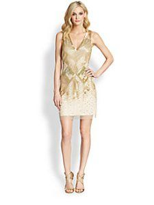 Aidan Mattox Beaded Deco Dress