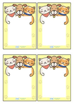 Twinkl Resources >> Editable Note From Teacher (Cat/Dog Themed)  >>…