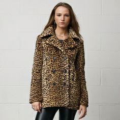 Denim & Supply Ralph Lauren Leopard-Print Pea Coat