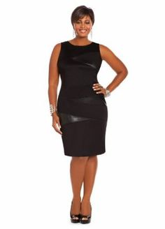 plus size coats for women | ... : Ashley Stewart Women's Plus Size Faux Leather Scuba Dress: Clothing