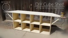 Build A Cube Organizer (like Target or Ikea) w/ Flip Up Wings to Fill a Bay Window