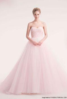 Alita Graham Pink Sweetheart Princess Ball Gown... I really like pink wedding dresses.