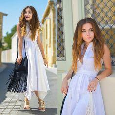 """Với tiết trời dịu mát của mùa thu, những kiểu váy liền sành điệu như váy thun, váy ren, váy kaki… luôn là trang phục """"ruột"""" của nhiều bạn gái."""
