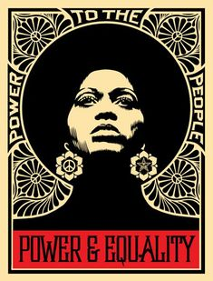Power and Equality by Shepard Fairey. Frank Shepard Fairey (born February is an American contemporary street artist, graphic designer, activist, illustrator and founder of OBEY Clothing who emerged from the skateboarding scene. Shepard Fairey Art, Shepard Fairy, Street Art, Protest Art, Feminist Art, Black Women Art, Art Women, Wall Collage, Wallpaper
