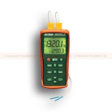 http://logger.nu/temperatur-loggers-r34851/2-kanalig-termometer-temperaturlogger-med-dubbla-ingangar-53-EA15-r34862  2-kanalig termometer / temperaturlogger med dubbla ingångar   Termometer med dubbla ingångar accepterar termoelement typ J, K, E, T, R, S och N  Inbyggd datalogger lagrar upp till 8800 datamängder  RS-232 port för att överföra data till PC för analys (PC-program och kabel ingår)  Kompakt och robust design med stor bakgrundsbelyst display  Visar [T1 plus T2] eller...