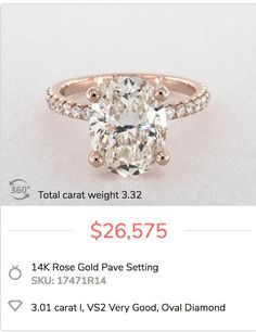You don't have to spend $30k for a 3 carat ring. Check out how shoppers have customized their settings to create blingy rings like this one and stayed under budget.