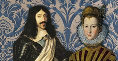 King Louis XIII and Marie de Medici, and de Medici fabric