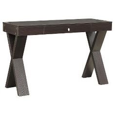 Newport Desk with Drawer Black - Convenience Concepts