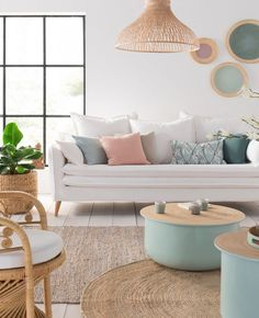 The Most Ignored Fact About Neutral Theme Living Room Uncovered 194 - Pecansthomedecor Pastel Living Room, Pastel Room, Pastel House, Living Room Colors, Small Living Rooms, Living Room Designs, Living Room Decor, Pastel Furniture, Deco Pastel