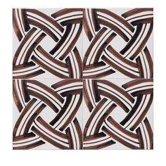 Four elegant 15 mm brown and white tiles, handmade using a wood-burning furnace, and coated in enamel, with an or century crossed oval pattern with. Marble Tiles, White Tiles, Wood Burning Furnace, Hearth Tiles, Style Tile, Luxury Home Decor, Hand Painted Ceramics, Vinyl Flooring, Artisan