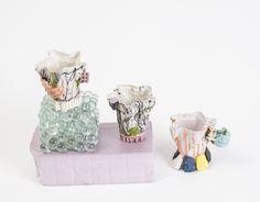Joey Watson colored porcelain espresso cups for OBJET ~ boutique