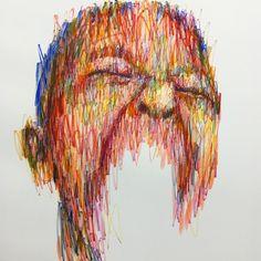 Pastel on canvas / Hom Nguyen