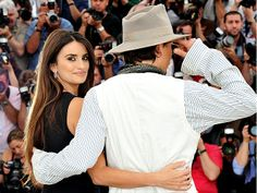 Penélope Cruz and Johnny Depp, stars of Pirates of the Caribbean: On Stranger Tides, meet the press at the Cannes Film Festival on Saturday