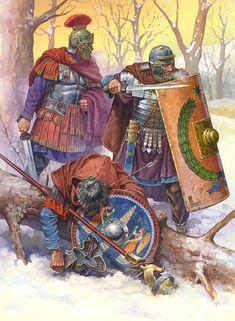 Centurión y legionarios imperiales, por Nicholas Subkov. Más en www.elgrancapitan.org/foro