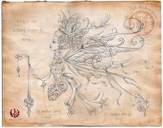 New Brow, Figurative Realism, Neo-Victorian Illustration, Pop Surrealism, Mythpunk & Steampunk Art ~ Brigid Ashwood - A Spirit Divided - SilverpointDrawings