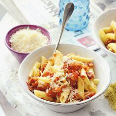 Recept - Pasta met tomaat en pancetta - Allerhande