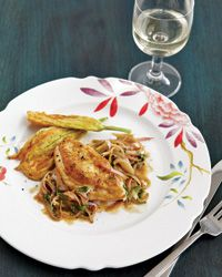 Chicken Breasts with Anchovy-Basil Pan Sauce // More Great Chicken Breast Recipes: http://www.foodandwine.com/slideshows/chicken-breasts #foodandwine