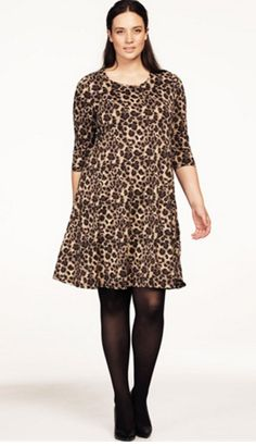 3/4 Sleeve A-Line Dress #ellos #loveellos #springprints #plussize #plussizedresses
