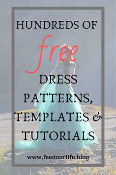 Hundreds of FREE Dress Patterns, Templates & Tutorials Exceptional 15 Sewing tutorials tips are offered on our internet site. look at this and you wont b Dress Sewing Patterns, Sewing Patterns Free, Free Sewing, Clothing Patterns, Dress Pattern Free, Pattern Drafting Tutorials, Coat Patterns, Blouse Patterns, Skirt Patterns