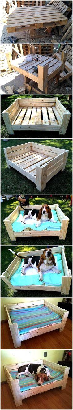 DIY Wooden Pallets Dog Bed Plan