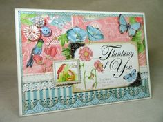 Create this Botanical Tea card with a step-by-step tutorial from Annette Green! #graphic45 #tutorials #cardmaking