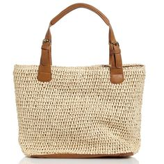 Loving this Natural Straw Buckle Tote on Straw Handbags, Tote Handbags, Purses And Handbags, Leather Handbags, Straw Tote, Tote Purse, Me Too Shoes, Reusable Tote Bags, Hand Bags