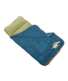 Look at this #zulilyfind! Blue Dinosaur Nap Mat #zulilyfinds. $29.99