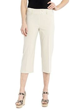 """Rekucci Women's """"Ease In To Comfort Fit"""" Dressy Capri -- Details can be found by clicking on the image."""