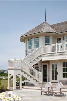Coastal Family Home Backyard - Patio.