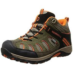 Merrell Chameleon Mid Lace Hiking Shoe Little KidToddlerLittle KidOliveOrange15 M US Little Kid -- Check out the image by visiting the link.(This is an Amazon affiliate link and I receive a commission for the sales)