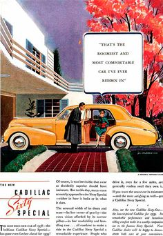 Caddilac Ad 1938  -  Jon Whitcomb