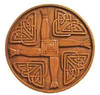 Perfect for my faux tin tiles. St. Brigit's cross- Why? Possible family line, and a favorite Saint, and I just found out, it is the origin of the street name of the house I just bought.