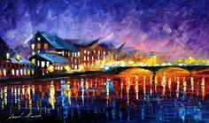 SLEEPY BRIDGE - LEONID AFREMOV by Leonidafremov.deviantart.com on @deviantART