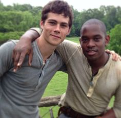 Dylan O'Brien and Aml Ameen -I love Dylan's smile!!!