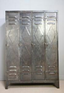 Railroad Towne Antique Mall, 319 W St, Grand Island, NE, has several metal lockers. Industrial Lockers, Metal Lockers, Vintage Industrial Decor, Industrial Chic, Vintage Decor, Steel Furniture, Cool Furniture, Office Furniture, Antique Metal