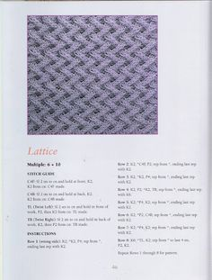 lattice 50 Fabulous Knit Stitches Rita Weiss - Paty Entretejiendo - Picasa Web Albums