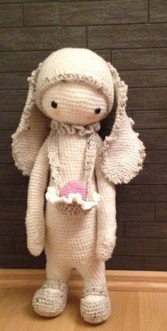 RITA the rabbit made by Anja E. / crochet pattern by lalylala