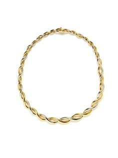 Giovane Van Cleef & Arpels Two-Tone Gold Braided Necklace