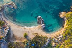 Aerial view of Tarrafal beach in Santiago island in Cape Verde - photo by on Envato Elements Seychelles, Costa Rica, Parque Natural, Cape Verde, Happy Art, City Beach, Aerial Photography, Aerial View, Cabo