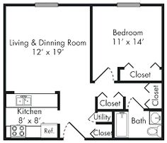 x floor plan Metal Building Homes, Metal Homes, Building A House, The Plan, How To Plan, 1 Bedroom House Plans, One Bedroom, Rustic House Plans, Small House Plans
