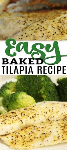 Easy Baked Tilapia Recipe - How to cook tilapia in oven Cooking Tilapia In Oven, Ways To Cook Tilapia, Oven Baked Tilapia, Tilipa Recipes, Talipa Fish Recipes, Seafood Recipes, Tilapia Shrimp Recipe, Tilapia Dinner Recipe, Tilapia Recipes Healthy Baked