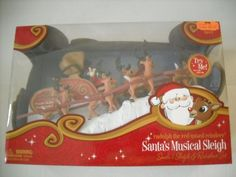 Rudolph the Red Nosed Reindeer Santa's Musical Sleigh and Reindeer Set Forever Fun http://www.amazon.com/dp/B005Y3VQS8/ref=cm_sw_r_pi_dp_PqwPub1ZK326H