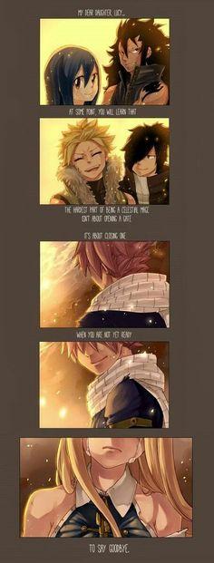 Say goodbye :( Nalu lucy Natsu Fairy Tail Lucy, Fairy Tail Nalu, Fairy Tail Ships, Arte Fairy Tail, Fairy Tail Guild, Anime Fairy, M Anime, Anime Kiss, Fairytail