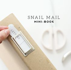 a simple way to organize and document important cards, letters and other snail mail