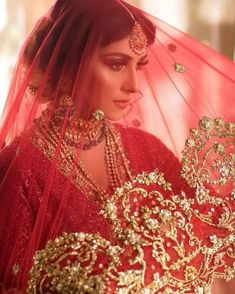 in a stunning bridal look. Ayeza Khan Wedding, Desi Wedding, Wedding Ideas, Indian Bridal Fashion, Indian Bridal Wear, Bridal Hijab Styles, Beautiful Pakistani Dresses, Indian Dresses, Stylish Dresses For Girls