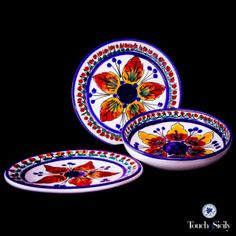 Ceramics - St. Stefano Dinner Set 24 Pcs - Pottery with Passion - Please Join us at ITALIAN DECORATIVE ART by Duca di Camastra to see our selection of beautiful hand-made artisan ceramics from S.Stefano di Camastra! Thank you!