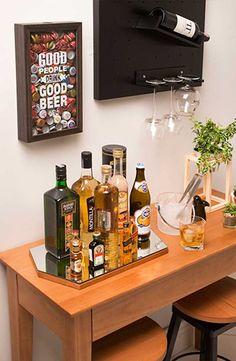 Interior Decorating Plans for your Home Bar Mini Bars, Mini Bar At Home, Bars For Home, Cafe Bar, Bar Sala, Home Bar Signs, Bar Counter Design, Bar Cart Decor, Coffee Bar Home