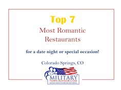 Top 7 Date Night Restaurants in Colorado Springs | Special Occasion | Romantic Restaurants