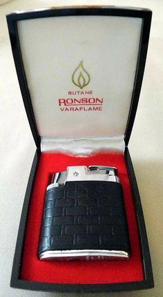 Vintage Ronson Butane Varaflame Cigarette Lighter, Made in the USA.