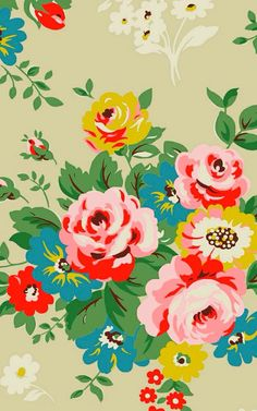 We have amazing flora wallpapers for you. Install our app for amazing wallpapers and set easily as wallpaper on your mobile Textile Patterns, Flower Patterns, Print Patterns, Textiles, Motif Vintage, Vintage Floral, Flower Vintage, Retro Floral, Vintage Colors